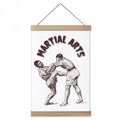 Martial Arts Dövüşçüleri tasarım dekoratif ahşap çerçeveli kanvas poster tablo modelleri. Dövüşçüye en güzel hediye modern kanvas poster duvar tabloları.