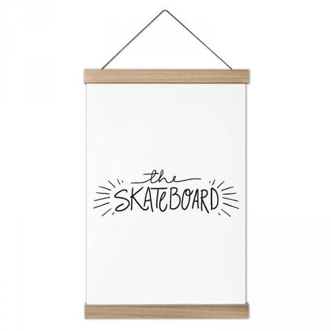 The Skateboard Kaykay tasarım dekoratif ahşap çerçeveli kanvas poster tablo modelleri. Kaykaycıya en güzel hediye modern kanvas poster duvar tabloları.