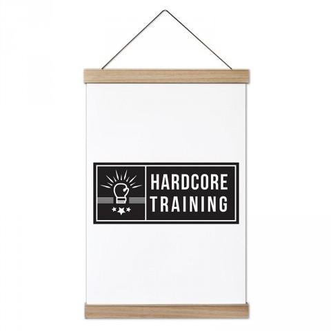Hardcore Training Boks tasarım dekoratif ahşap çerçeveli kanvas poster tablo modelleri. Vücut geliştiricilere en güzel hediye modern kanvas poster duvar tabloları.