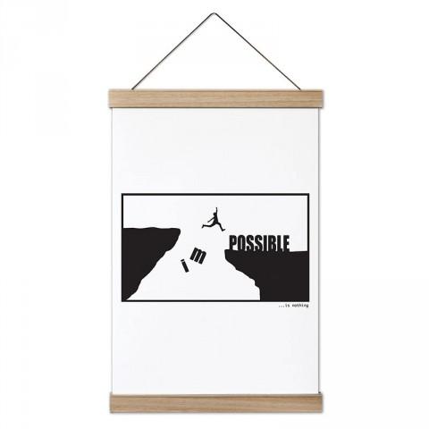 Impossible Is Nothing tasarım dekoratif ahşap çerçeveli kanvas poster tablo modelleri. Koşuculara ve koşu severlere en güzel hediye modern kanvas posterler.