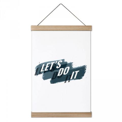 Let's Do It tasarım dekoratif ahşap çerçeveli kanvas poster tablo modelleri. Koşuculara ve koşu severlere en güzel hediye modern kanvas poster duvar tabloları.