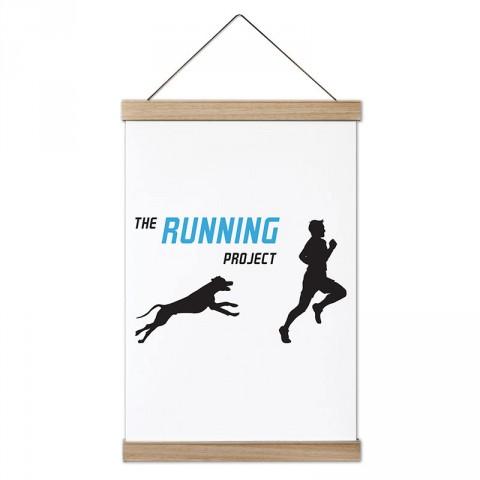 The Running Project tasarım dekoratif ahşap çerçeveli kanvas poster tablo modelleri. Koşuculara ve koşu severlere en güzel hediye modern kanvas poster duvar tabloları.