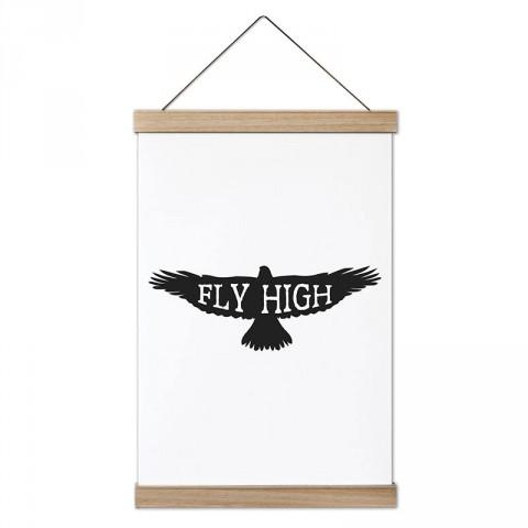 Fly High Şahin tasarım ahşap çerçeveli kanvas poster tablo modelleri. Doğa ve hayvanseverlere, havacılara en güzel hediye modern kanvas poster duvar tabloları.