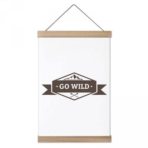 Go Wild  tasarım ahşap çerçeveli kanvas poster tablo modelleri. Orman,vahşi yaşam,  kamp ve doğa severlere en güzel hediye modern kanvas poster duvar tabloları.
