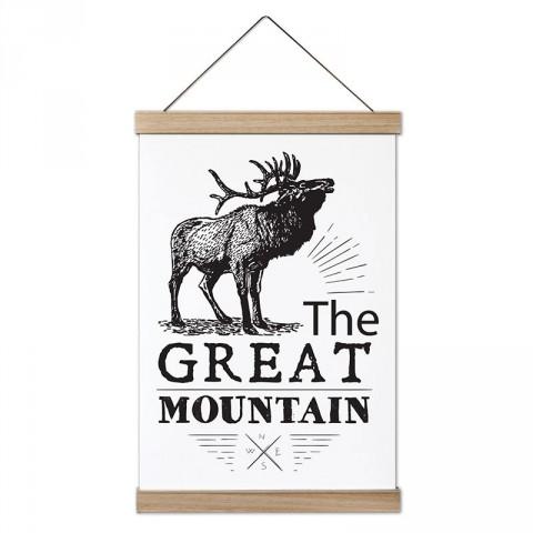 Görkemli Dağ tasarım ahşap çerçeveli kanvas poster tablo modelleri. Orman, kamp,hayvan  ve doğa severlere en güzel hediye modern kanvas poster duvar tabloları.