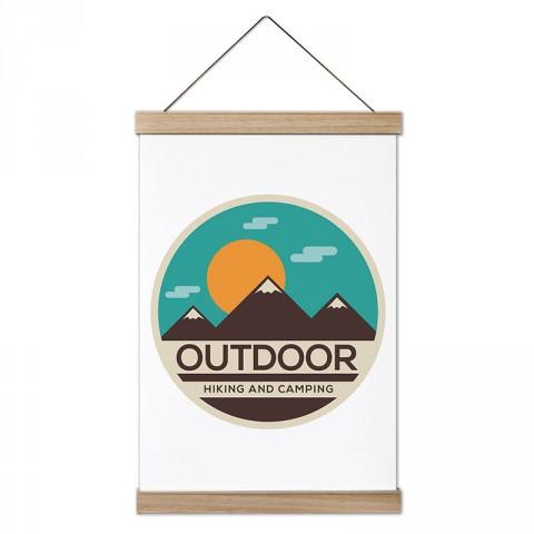 Outdoor Doğa Yürüyüşü ve Kamp tasarım ahşap çerçeveli kanvas poster tablo modelleri. Orman, kamp ve doğa severlere en güzel hediye modern kanvas poster duvar tabloları.