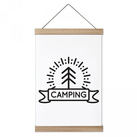 Camping Minimal tasarım ahşap çerçeveli kanvas poster tablo modelleri. Kamp ve doğa severlere, kampçılara en güzel hediye modern kanvas poster duvar tabloları.