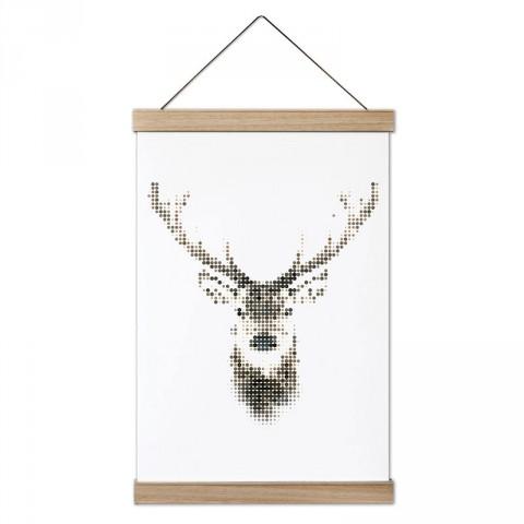 Piksel Geyik tasarım ahşap çerçeveli kanvas poster tablo modelleri. Doğa ve hayvanseverlere en güzel hediye modern kanvas poster duvar tabloları.
