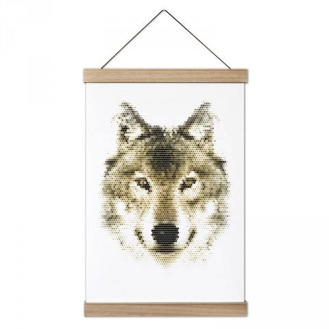 Piksel Kurt tasarım ahşap çerçeveli kanvas poster tablo modelleri. Doğa ve hayvanseverlere en güzel hediye modern kanvas poster duvar tabloları.