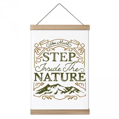 Doğaya Adım Atmalısın tasarım ahşap çerçeveli kanvas poster tablo modelleri. Orman, kamp ve doğa severlere en güzel hediye modern kanvas poster duvar tabloları.