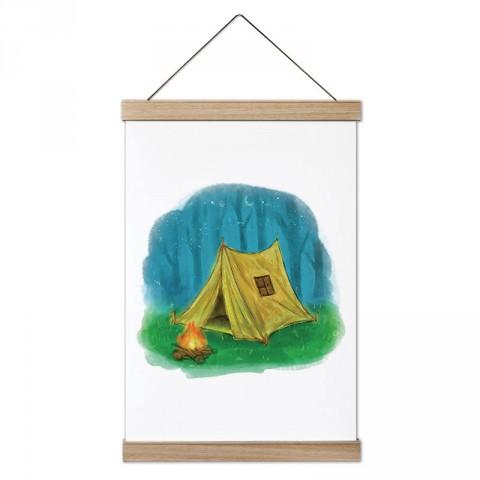 Boyama Çizim Doğa ve Kamp tasarım ahşap çerçeveli kanvas poster tablo modelleri. Kamp ve doğa severlere, kampçılara en güzel hediye modern kanvas poster duvar tabloları.