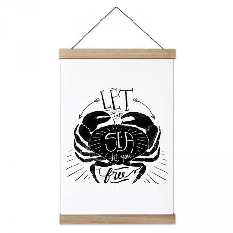 Bırak Deniz Seni Özgür Kılsın tasarım dekoratif ahşap çerçeveli kanvas poster. Dalgıçlara, dalış ve scuba diving severlere en güzel hediye kanvas poster duvar tabloları.