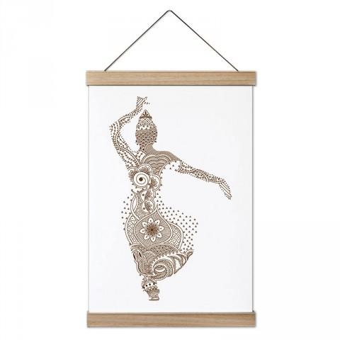 Hint Dansı tasarım dekoratif ahşap çerçeveli kanvas poster tablo modelleri. Dansçılara ve dans severlere en güzel hediye modern kanvas poster duvar tabloları.