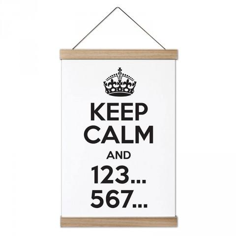 Keep Calm And 123 567 Dans tasarım dekoratif ahşap çerçeveli kanvas poster tablo modelleri. Dansçılara ve dans severlere en güzel hediye modern kanvas posterler.