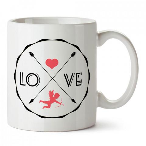 Eros I Love You tasarım baskılı porselen kupa bardak (mug). Sevgiliye hediye aşk içerikli kupa bardaklar. Sevgiliye en güzel hediye kupa. Sevgili için kahve kupası.