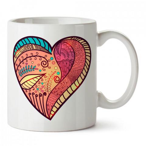 Hippi Kalp tasarım baskılı porselen kupa bardak (mug). Sevgiliye hediye aşk içerikli kupa bardaklar. Sevgiliye en güzel hediye kupa. Sevgili için kahve kupası.