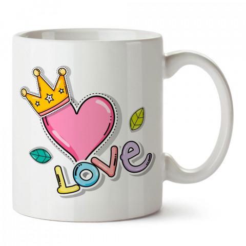 Kral Sevgili Aşk tasarım baskılı porselen kupa bardak (mug). Sevgiliye hediye aşk içerikli kupa bardaklar. Sevgiliye en güzel hediye kupa. Sevgili için kahve kupası.