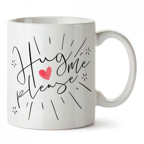 Sarıl Bana Lütfen tasarım baskılı porselen kupa bardak (mug). Sevgiliye hediye aşk içerikli kupa bardaklar. Sevgiliye en güzel hediye kupa. Sevgili için kahve kupası.