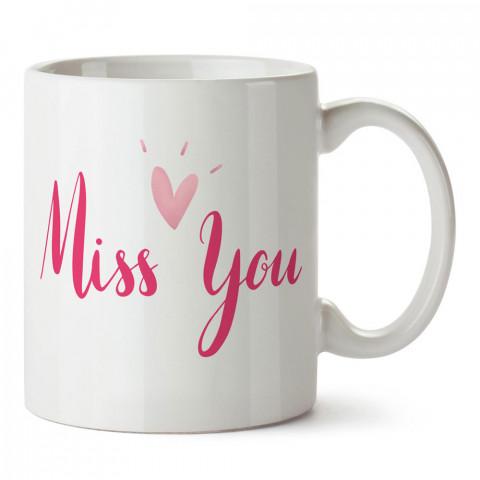 Seni Özledim tasarım baskılı porselen kupa bardak (mug). Sevgiliye hediye aşk içerikli kupa bardaklar. Sevgiliye en güzel hediye kupa. Sevgili için kahve kupası.