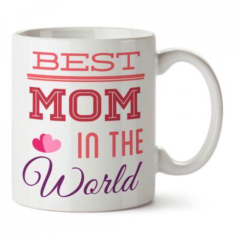Dünyanın En İyi Annesi tasarım baskılı kupa bardak (mug). En güzel Anneler Günü hediyesi porselen kupa bardak. Anneye en güzel hediye kupa bardak. Anneye hediyelik kupa.