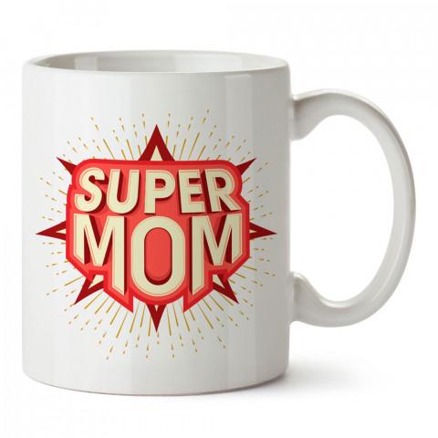 Süper Anne tasarım baskılı kupa bardak (mug). En güzel Anneler Günü hediyesi porselen kupa bardak. Anneye en güzel hediye kupa bardak. Anneye hediyelik kupa.