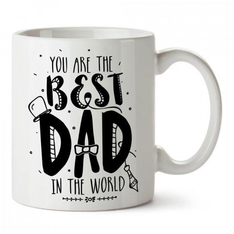 Dünyadaki En İyi Babasın tasarım baskılı kupa bardak (mug). En güzel Babalar Günü hediyesi porselen kupa bardak. Babaya en güzel hediye kupa. Babalara hediyelik kupa.