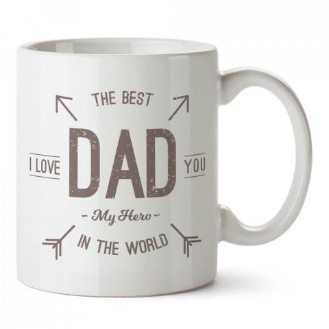 Dünyanın En İyi Babası tasarım baskılı kupa bardak (mug). En güzel Babalar Günü hediyesi porselen kupa bardak. Babaya en güzel hediye kupa. Babalara hediyelik kupa.