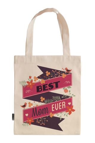 Gelmiş Geçmiş En İyi Anne tasarım baskılı 35x40 ham bez çanta. Annelere hediye ham bez çanta. Anneler günü hediyesi bez çanta. Anneye hediye ham bez market omuz çantası.