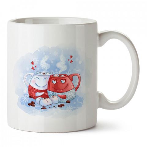 Kahve Seven Sevgililer tasarım baskılı porselen kupa bardak (mug). Sevgiliye hediye aşk içerikli kupa bardaklar. Sevgiliye en güzel hediye kupa. Sevgiliye kahve kupası.