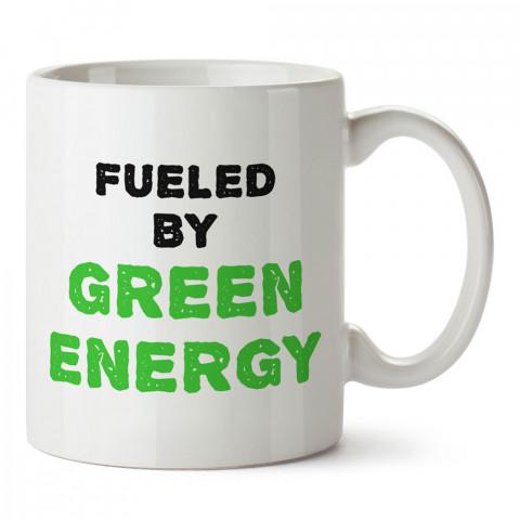 Green Energy Yeşil Enerji tasarım baskılı kupa bardaklar. Vejetaryene ve vegana hediye mug. Vegan kahve kupası. Vegan ve vejetaryenlere hediye fikirleri. Veganizm.