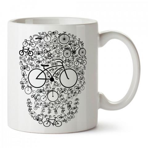 Bisiklet Gözlü Kuru Kafa tasarım baskılı kupa bardaklar. Kuru Kafa hediyelik mug bardak. Skull tasarım kahve kupası. Kuru Kafa hediye fikirleri. Kuru Kafa resim.