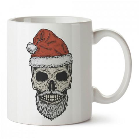Noel Baba Kuru Kafa tasarım baskılı kupa bardaklar. Kuru Kafa hediyelik mug bardak. Skull tasarım kahve kupası. Kuru Kafa hediye fikirleri. Kuru Kafa resim.