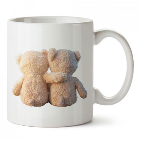 Peluş Ayıcık Sevgiler tasarım baskılı porselen kupa bardak (mug). Sevgiliye hediye aşk içerikli kupa bardaklar. Sevgiliye en güzel hediye kupa. Sevgiliye kahve kupası.