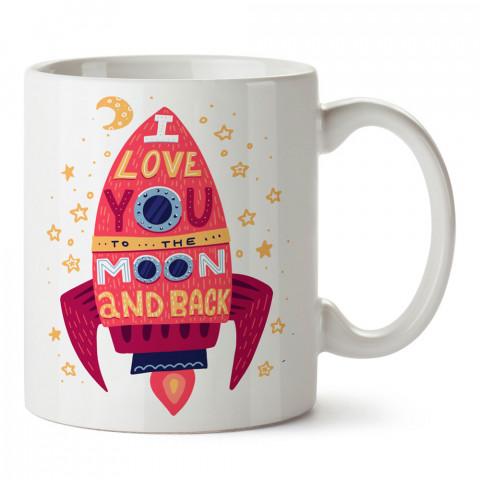 Roket Seni Seviyorum tasarım baskılı porselen kupa bardak (mug). Sevgiliye hediye aşk içerikli kupa bardaklar. Sevgiliye en güzel hediye kupa. Sevgiliye kahve kupası.