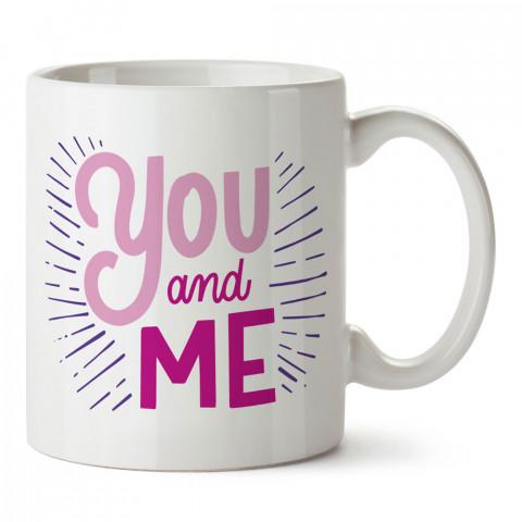 Sen Ve Ben tasarım baskılı porselen kupa bardak (mug). Sevgiliye hediye aşk içerikli kupa bardaklar. Sevgiliye en güzel hediye kupa. Sevgiliye kahve kupası.