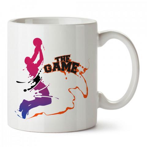 Basketbol The Game baskılı tasarım kupa bardak (mug bardak). Basketbol baskılı kupa bardak modelleri. Basketbolculara hediyelik kahve kupası. Basketbolcuya hediye.