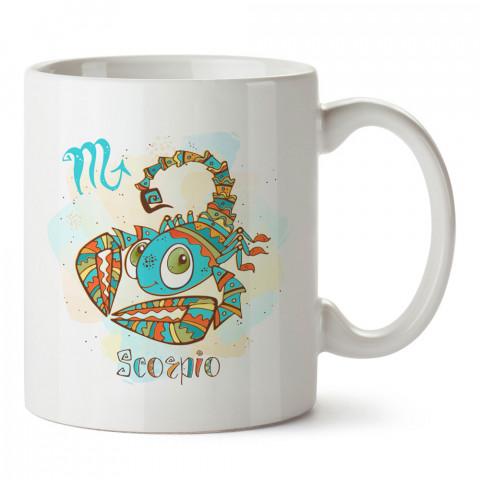 Akrep Burcu Geometrik Astroloji tasarımlı kupa bardak. Akrep burcu için Mug. Burç severlere astrolojik desenli en güzel hediyelik kupa bardaklar. Akrep burcuna hediye.