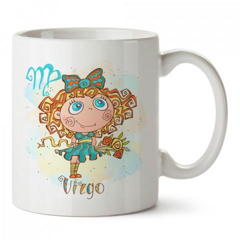 Başak Burcu Geometrik Astroloji tasarımlı kupa bardak. Başak burcu için Mug. Burç severlere astrolojik desenli en güzel hediyelik kupa bardaklar. Başak burcuna hediye.