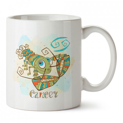Yengeç Burcu Geometrik Astroloji tasarımlı kupa bardak. Yengeç burcu için Mug. Burç severlere astrolojik desenli en güzel hediyelik kupa bardaklar. Yengeç burcuna hediye.