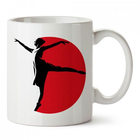 Balerin Silüeti Dans baskılı tasarım kupa bardak (mug bardak). Balerine hediye kupa bardak modelleri. Balerinlere hediyelik kahve kupası. Bale dansı konulu hediye.