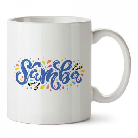 Samba Dans Grafiti baskılı tasarım kupa bardak (mug bardak). Sambacıya hediye kupa bardak modelleri. Sambacılara hediyelik kahve kupası. Samba dansı konulu hediye.