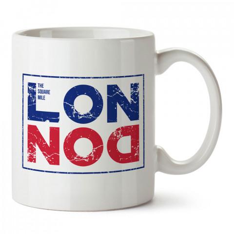London Damga İngiltere tasarım baskı kupa bardak (mug bardak). Ülke ve şehir temalı hediye çeşitleri. İngiltere desenli hediyelik kahve kupası. Turizm ve tatil hediyesi.