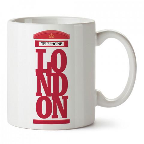 Londra Telefon Kulübesi İngiltere tasarım kupa bardak (mug). Ülke ve şehir temalı hediye çeşitleri. İngiltere desenli hediyelik kahve kupası. Turizm ve tatil hediyesi.