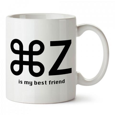 Cmd +Z En İyi Dostum Grafiker tasarım baskılı kupa bardak (mug bardak). Tasarımcılara ve grafikerlere en güzel hediye. Grafikere ve tasarımcıya hediyelik kahve kupası.