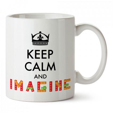 Sakin Ol Ve Hayal Et tasarım baskılı porselen kupa bardak (mug bardak). Tasarımcılara ve grafikerlere en güzel hediye. Grafikere ve tasarımcıya hediyelik kahve kupası.