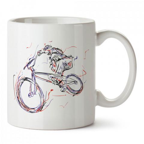 Tek Elli Bisikletçi Ruhu baskılı porselen kupa bardak (mug). Bisikletçiler için en güzel hediye. Bisikletçilere hediye kahve kupası. Bisikletçiye alınabilecek hediyeler.