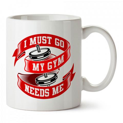 Spor Salonumun Bana İhtiyacı Var baskılı porselen kupa bardak (mug bardak). Bodyci ve vücut geliştirici için hediye. Fitness hediye kupa bardak. Vücut geliştirme hediye.