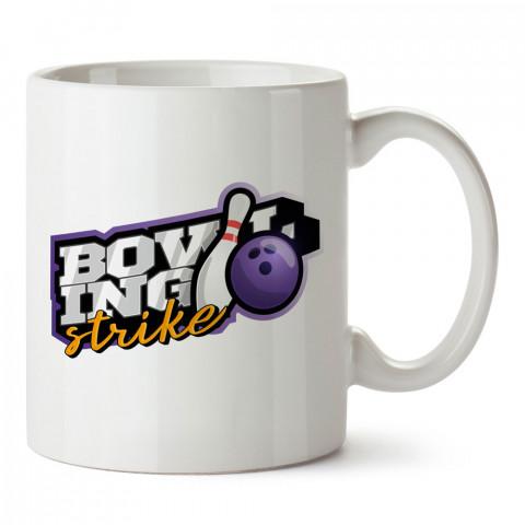 Bowling Strike tasarım baskılı kupa bardak (mug bardak). Bowling tutkunlarına özel hediyeler. Bowling sevenlere hediye. Bowlingciye hediye kupa bardak.