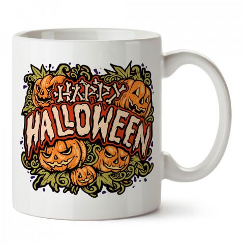 Bal Kabakları Happy Halloween tasarım baskılı halloween kupa bardak (mug bardak). Cadılar Bayramına özel hediyeler. Cadılar bayramı hediyesi. Halloween hediyesi.