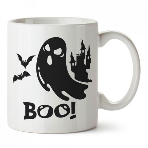 Boo Hayalet Cadılar Bayramı tasarım baskılı halloween kupa bardak (mug bardak). Cadılar Bayramına özel hediyeler. Cadılar bayramı hediyesi. Halloween hediyesi.